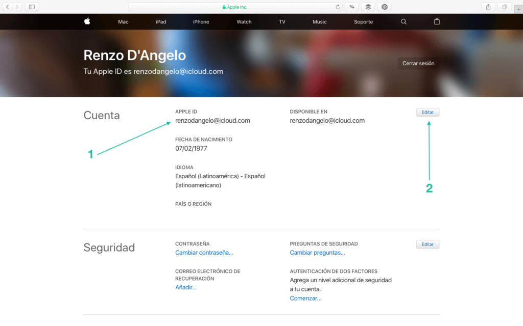 Unificando Apple ID - 1