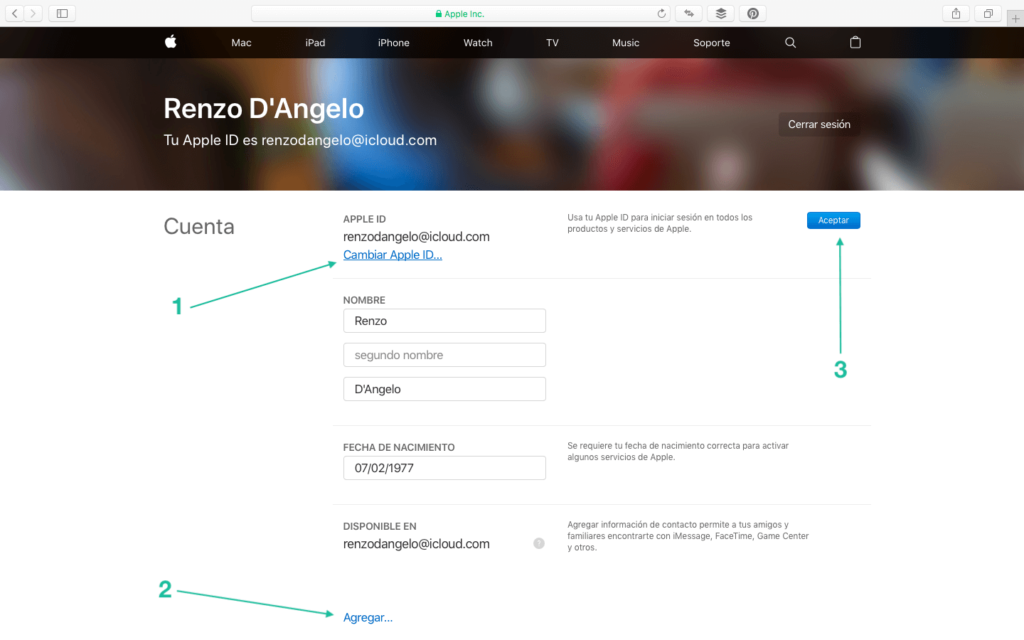 Unificando Apple ID - 2